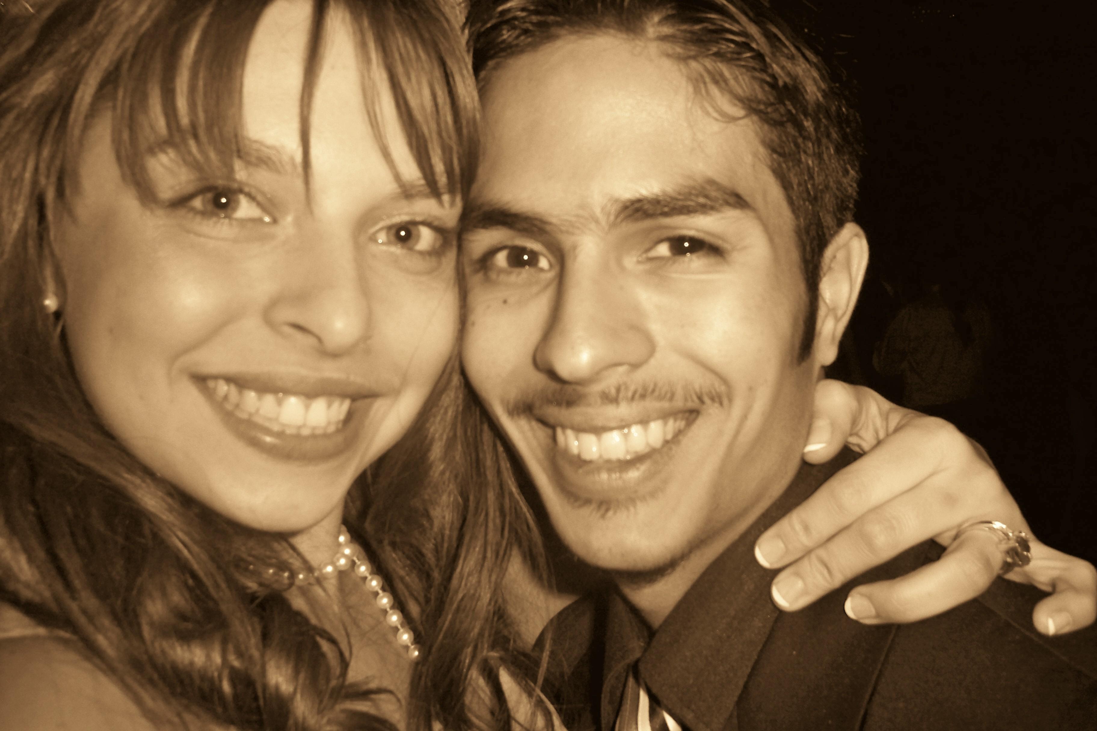 Alain and Kristine at their graduation ball