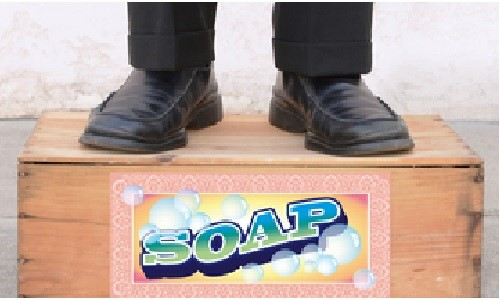 Standing on a Soap Box