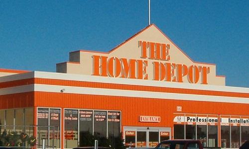 home depot header